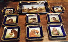 Limoges 1850-1899 Game Service Set w/dogs, 15 pieces, French - Haviland Limoges