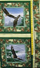 BALD EAGLES WILD WINGS 100% COTTON FABRIC PILLOW PANEL