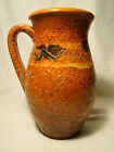 Redware Pitcher With Manganese Touches & Incised Decoration late 19th c