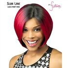 NWT Chade Born Free Slim Line Wig SLW-03 gray colors 3t280- rare LEFT side part