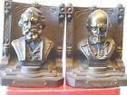 Vintage 1920's Bradley and Hubbard Shakespear and Longfellow Cast Iron Bookends
