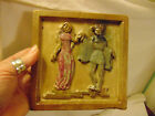 Rare Vintage or Antique Heavy Tile Courting Scene Gres Guerin Bouffioulx Belgium