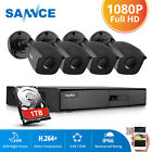 SANNCE 8CH 960H HDMI DVR 900TVL Outdoor CCTV Home Security Camera System 1TB HD