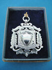 Large Antique Sterling Silver Pocket Watch Chain Fob 1909 ~ Finely Pierced Medal