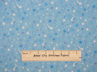 RJR One Frosty Christmas Shooting Star Blue Sky Tonal Holiday Cotton Fabric YARD