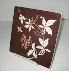 Antique Mintons China Works Stoke on Trent Bee with Vine & berries Brown