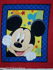 DISNEY~MICKEY MOUSESTARS QUILT TOP Creative Springs PANEL~ Rare~ the LAST ONE