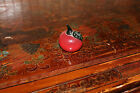 Vintage/antique Japanese/Chinese Red Apple Glass (Peking?) paper weight