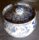 Bybee Pottery Kentucky Blue & White Speckled Jar Canister W/Lid Cute!!!