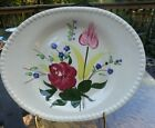 Southern Pottery Blue Ridge Bluebell Bouquet Platter on Candlewick Blank