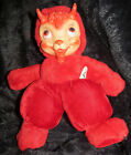 VINTAGE VERY RARE RED GUND DEVIL RUBBER FACE OLD PLUSH TOY BEAR RUSHTON GUND LOT
