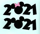 Mickey Mouse Title Die Cuts with date Minnie Mouse Title Die Cuts with date