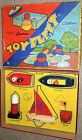 Vintage 1930's or 1940's Wood Toy Fleet for Fun Set, Stahlwood Toy Mfg. Co, NY