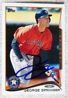 Houston Astros George Springer Signed 2014 Topps Rookie Auto Card