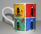 Coca Cola Four Seasons Gibson Ceramic Tea Coffee Cup Mug 1997 Winter Summer