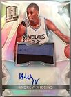 2014-15 ANDREW WIGGINS Panini Spectra Rookie Jersey Patch Autograph RC RARE!!