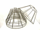 Lamp Shade Wire Frames for Hanging DIY Lights Custom Made NYC  Set of 6
