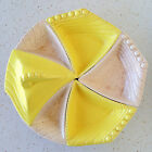 Vintage California USA Yellow Lazy Susan Maurice of Cali Pottery Serving MCM