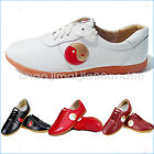 Martial Arts Tai Chi Kung Fu Wushu Sports Soft Cow leather shoes Footwear 4color
