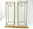 Lamp Shade Wire Frames Pair Tall Square for Table Lamps Custom Made NYC