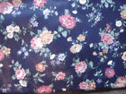 Vintage Joan Kessler for Concord Fabrics Rose Polished Cotton Fabric 5/8 yd x 54