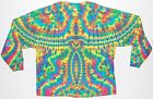 Adult Long Sleeve TIE DYE Neon Phoenix Blotter T Shirt art sm med lg xl hippie