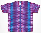Adult TIE DYE Purple DNA s/s T Shirt small medium large XL hippie custom art