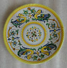 ANTIQUE 1920s ITALIAN POTTERY HAND PAINTED DRAGON PLATE SIGNED MONTELUCE ITALY