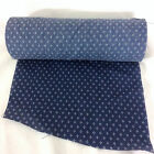 Fabric End Roll 8 Inches Wide Navy Blue White Cluster Dots Rag Rug Quilt Craft