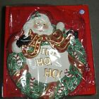 BRAND NEW FITZ AND FLOYD SANTA WITH WREATH CANAPE PLATE