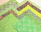40 Quilters 5 inch Quilting Squares Green Calico Florals Quilt Cotton Fabric