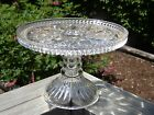 Antique DALZELL Diamond Crystal Glass EAPG Beehive Pedestal CAKE STAND Plate