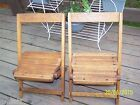 ( 2 ) Vintage Child's Wood Chairs Deck Play Church Nice Wooden Chairs