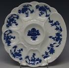 Rare 1881 MINTON England Bombay Pattern Flow Blue Oyster Plate, 6 Wells, 9