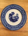 Flow Blue Pastoral Plate English Country Farm 9 1/4