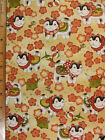 Kimono Kitty Cats Print end of bolt cotton fabric ONE YARD Read Full Listing