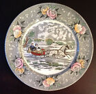 Vintage 1950's Adams Plate Currier & Ives The Road Winter 10.5