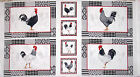 Rooster Fabric ~ 100% Cotton 24