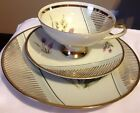 Winterling Marktleuthen FOOTED CUP SAUCER Dessert 3pc Bone China BAVARIA-GERMANY