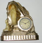 Antique Lourdes Lapparition French Clock with musical alarm