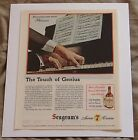 """Seagrams 7 Crown Whisky Vintage 1945 Print Ad """"Touch of Genius"""""""