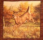 Whitetail Deer Hautman Cotton Fabric Pillow Panel Quilting
