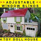3-D WINDOW BLINDS SHADES MARX TIN TOY DOLLHOUSE RANCH & WOOD BUILDING MODELS ETC