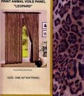 2pc LEOPARD PRINT Voile Curtain Panels Safari Jungle Curtains African Decor NEW