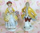 Porcelain Colonial Figurine's Man and Woman Germany Stamped Vintage 1900's Era