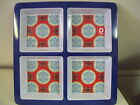 Picnic Melamine Large 4-Section Condiment Tray by QTOO, Blue and Red , New