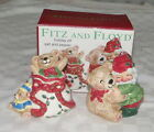 Fitz & Floyd Holiday Elf Salt and Pepper Set - Mint in Box