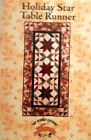 HOLIDAY STAR table runner quilt pattern by The Rabbit Factory 26