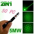 50PC 2in1 Powerful 5mw 532nm Green Laser Pointer Pen Beam Light Lazer