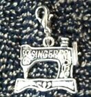 Singer Sewing Machine Charm Antiqued Silver Bookmark Bracelet Scrapbooking